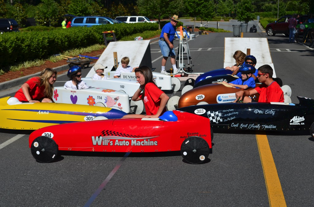 soap box derby race group picture